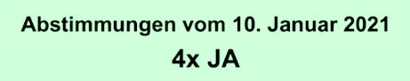 Hintergrundinformationen zur Abstimmung vom 10. Januar 2021